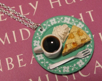 Coffee and Apple Pie Necklace \/ Pendant