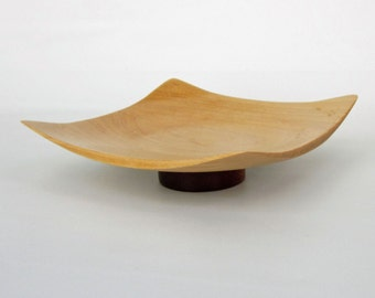 Square Bowl Made from Birch and Magohany