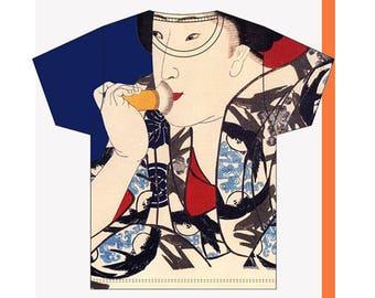 Japanese clothing / Japanese shirt /Japan t shirt / Women t shirt / Japanese gifts / Geisha print / Art lover gift / Culture