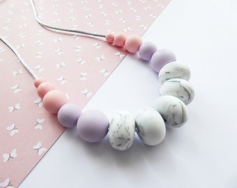 Silicone Sensory Necklace For New Mum Baby Teething Necklace Breastfeeding Chewelry Babywearing Silicone Teething Necklace Teether Baby