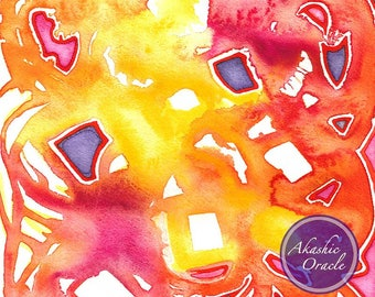 JEWEL ~ Healing Art Print ~ Gift of Abundance ~ Invite health and wealth into your space with vibrant art <3