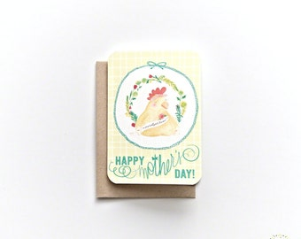 Marvelous Mama Blank Greeting Card - Mother's Day Card with Recycled Kraft Envelope