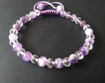 Amethyst and Crystal Fertility Bracelet. Therapeutic, Healing Bracelet, Chakra Bracelet.