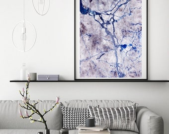 Mineral Photography - (Print #823) BLUE Marble -  Fine Art Print - Two Paper Choices- Mineral Geode Agate Crystal Decor