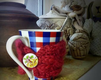 Knitted Cup Cozy Coffe Mug Cozy Coffee Gift Cup Sleeve Student/Teacher gift Hand Knitted Cup Cozy