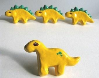 Yellow Brontosaurus Knob