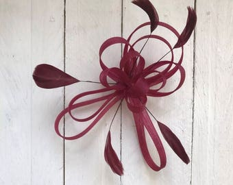 Burgundy Feather Fascinatir