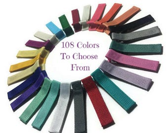 500 Solid Lined Alligator Clips, 45mm, Solid Hair Clips, No Slip Hair Clips, Lined Hair Clips, Ribbon Covered Clips, Ribbon Lined Clips