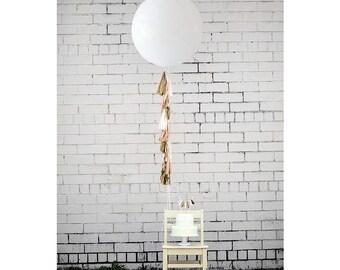 Balloon Tassels: Blush w/White Balloon