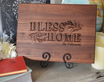 Bless This Home Personalized Cutting Board 8 x 14