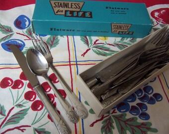 vintage stainless steel flatware