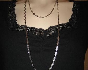 Park Lane Silver Tone Chain Link Necklace 60s Vintage