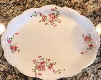 Vintage eureka floral platter 15 inch