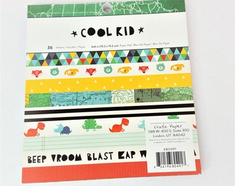 Cool Kid Paper Pad 6x6 by Crate Paper 36 sheets