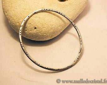 Bracelet Silver Sterling 925 engraving Jonc HandMade at your size !!