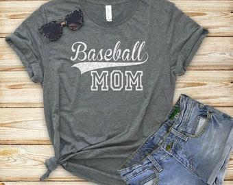 Baseball Mom Shirt / Baseball Glitter/ MOM Baseball Shirt/ Tball shirt/Baseball Bling,Game Day Shirt