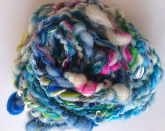 Hand spun, coil plyed art yarn