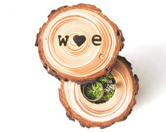 Wood Ring Box | Ring Bearer Box | Wedding Ring Box |