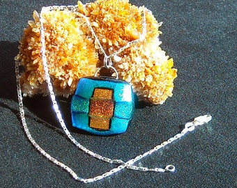 Fused Art Glass Pendant