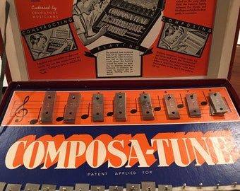 Vintage Composa-Tune musical keyboard toy