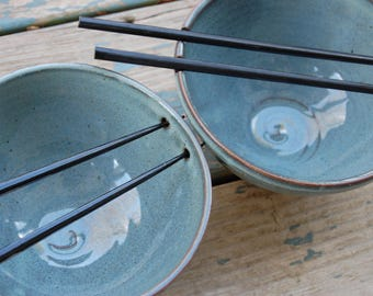 Noodle Bowl or Ramen Bowl in Slate Blue - Made to Order