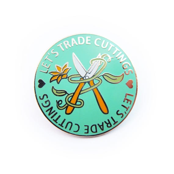 Let's Trade Cuttings Enamel Pin