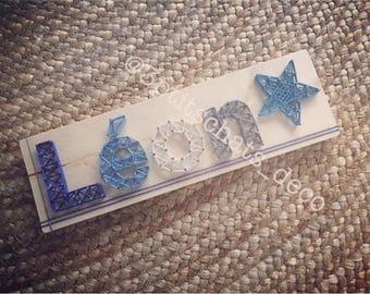 Name String Art - Custom made String Art - wall decor for nursery child baby Panel