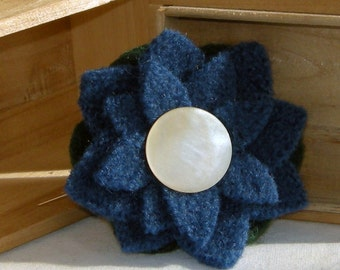 Boiled Wool Felted Brooch  Free Shipping USA