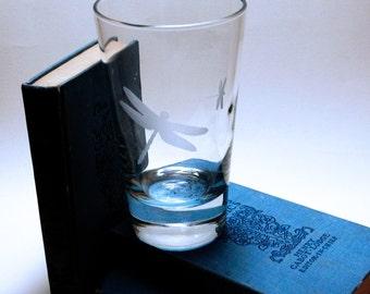 2 verres à whisky - libellule