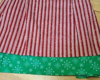 2 panel Candy cane stripe 1/2 apron