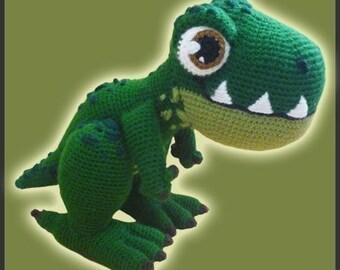 Amigurumi Pattern Crochet T-REX Dinosaur DIY Instant Digital Download PDF