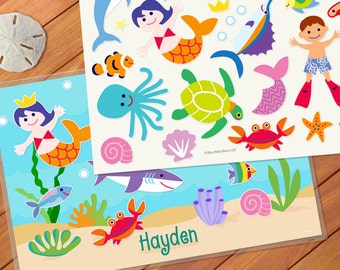 Olive Kids Personalized Ocean Play Mat
