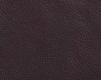 Brown Breathable Leather Look And Feel Upholstery By The Yard   Pattern # G436