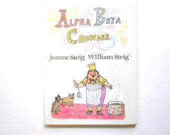 Alfa Beta Chowder, un Vintage alfabeto libro infantil, libro ABC