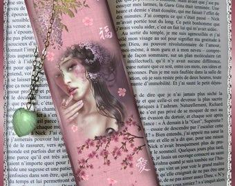 "Laminated bookmarks ""Geisha"", cheap gift idea"