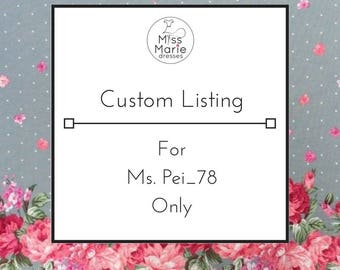 Custom Dress - Reserved listing - Please do not purchase unless you are Ms. Pei_78 - Rose Dress