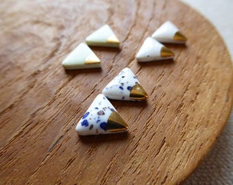 Small Mountain Triangle Studs with Gold Triangle Since2012 Sample Size SALE