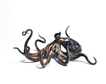 Caribbean Reef Octopus - Borosilicate Glass Sculpture