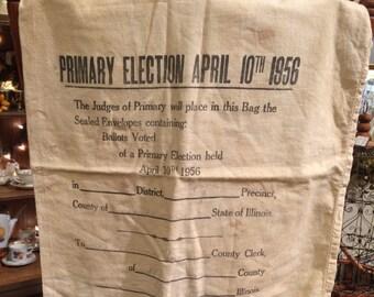 Vintage 1956 Ballot Election Bag