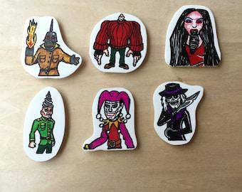 Puppet Master Shrink Plastic Magnet Set (6) FREE SHIPPING