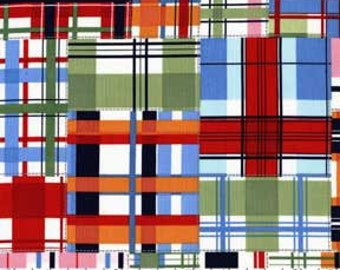 Madras Plaid cotton Fabric BTY. Michael Miller.