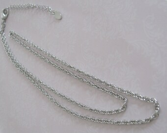 "Silver Chain Necklace 24"" antique silver"