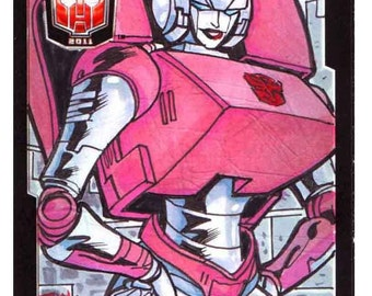 2011 BotCon ARCEE Sketch Card Transformers Giant Robots Collectible Item Gift Item Unique Artwork