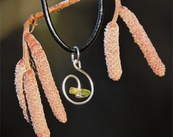 Handmade Jewelry natural gemstone pendant green jewel peridot pendant peridot necklace stone jewel handmade whimsical necklace earthy aywin