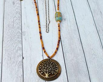 Giving Tree Boho Chic Necklace, Boho chic jewelry, Bohemian jewelry