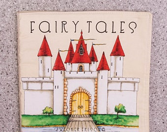 Cloth book, soft book, fairy tales, toddler toy, quiet toy
