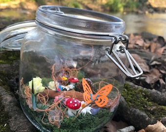 Floral Pixie Jar