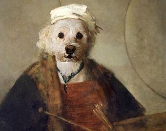 Rembrandt - Pet Portrait - Custom Renaissance Pet Dog/Cat Portraits - Digital personalized portrait painting using your Pet's Photo
