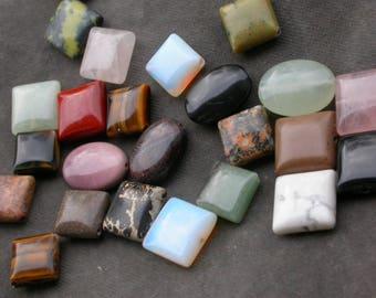 set of 10 mixed color quartz pyrite aventurine Jasper bead