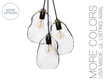 Bubble Hand Blown Glass Chandelier Light- USA MADE